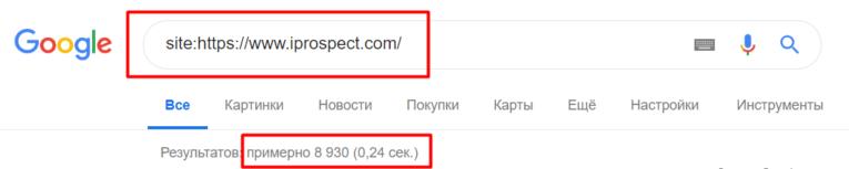 сколько сейчас страниц в индексе поисковой системы