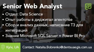 Senior Web Analyst