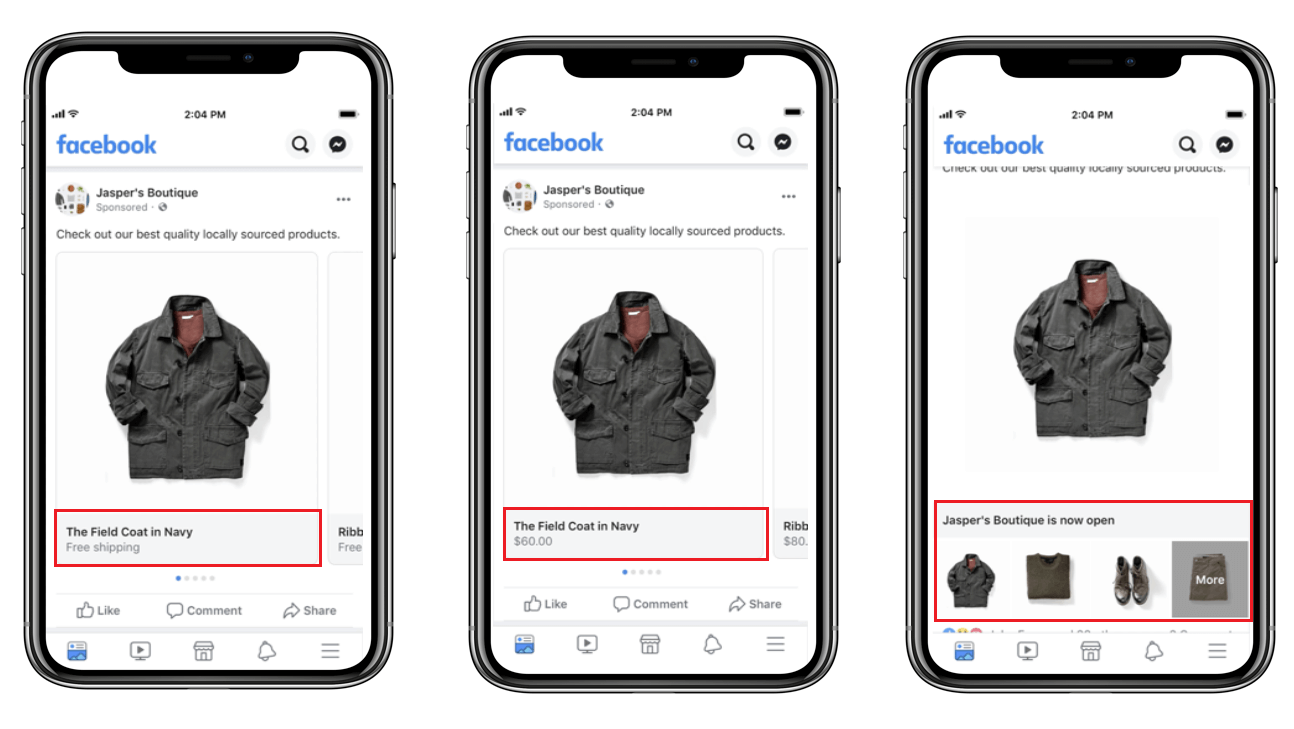 Facebook Dynamic Ads Formats